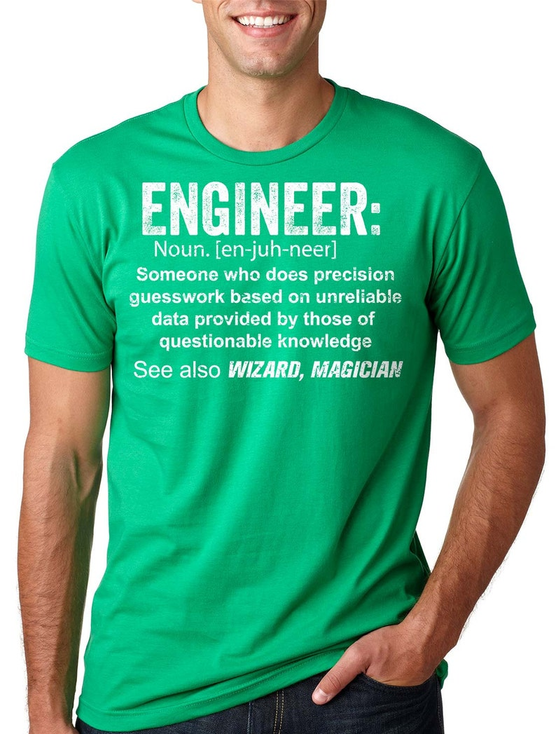 6be4a0fb87 Engineer T-Shirt Gift For Engineer Funny Profession T-Shirt | Etsy