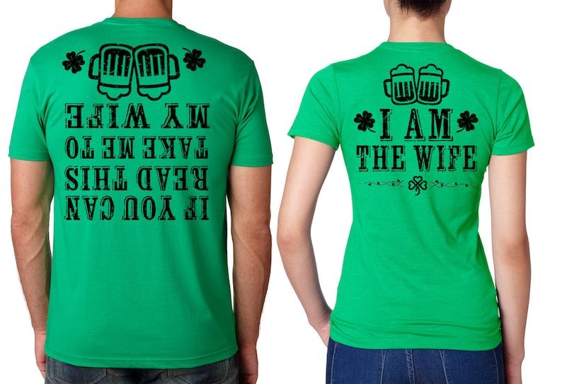 31e50bf0a7 Couple Green T-shirts Funny T-shirt St Patrick's St | Etsy