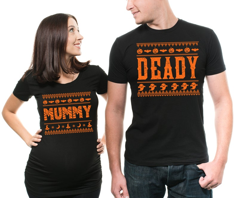 5bb28971 Halloween Couple Shirts Future Mommy Daddy Pregnancy Maternity | Etsy