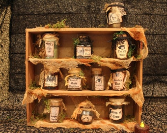 Witches Potion Cabinet | Mail Cabinet
