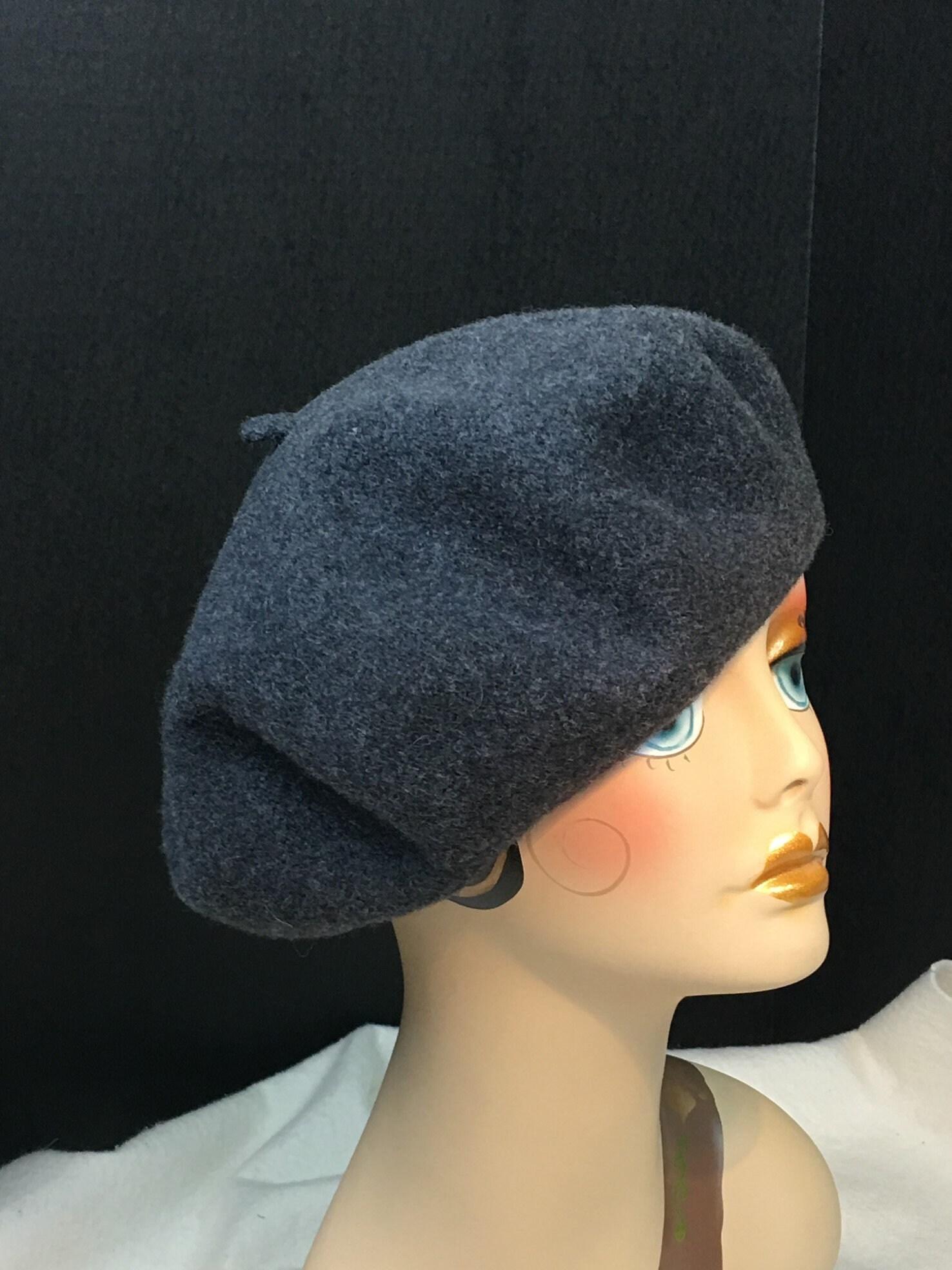 f310597dff7da Classic French Beret Wool Charcoal Gray Woman s