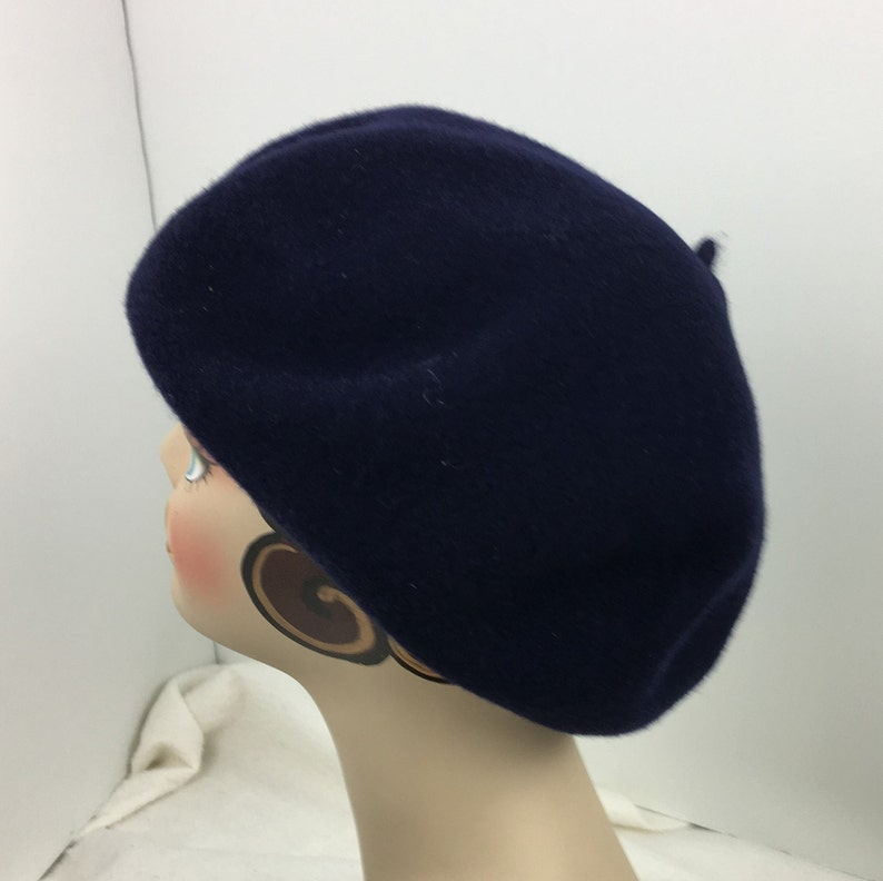 a2c957a94bda4 Wool French Beret Woman s Over Sized Extra Large Navy Hand