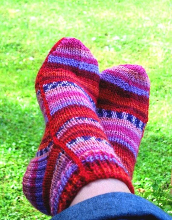 Easy Socks On Two Needles Women Xs M L Pdf Pattern Only Etsy