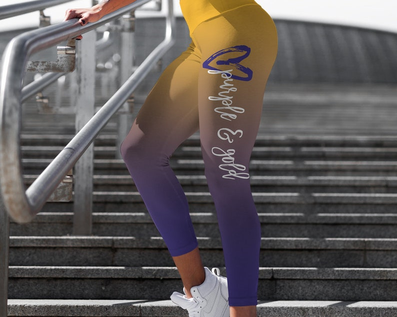 f4f605e9eb947 Yoga pants leggings printed leggings lsu leggings football | Etsy