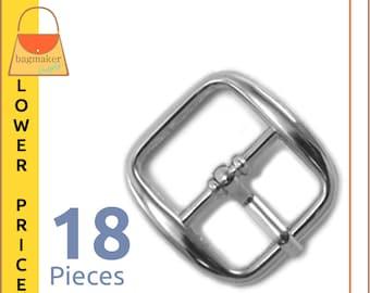 "Nickel Free 25mm Antique Nickel Plate Finish Centre Bar Roller Buckle 1/"""