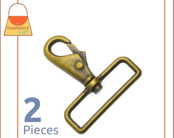 Antique Gold  Light Antique Brass Finish 6 Pieces .75 Inch 19 mm Rectangular  Square Flat Cast Ring RNG-AA398 34 Inch Rectangle Ring