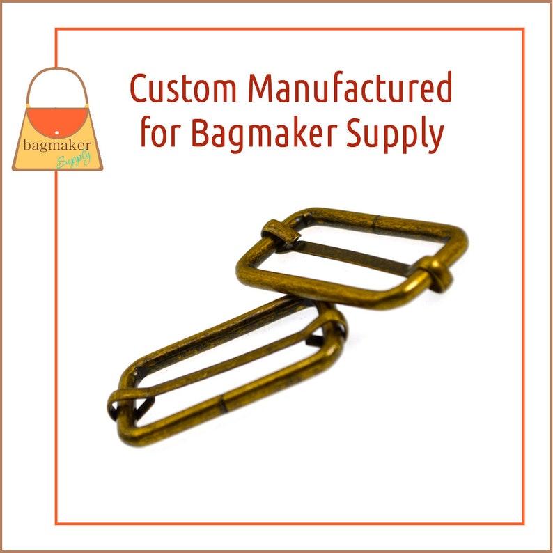 Antique Brass  Bronze Finish 1.5 Inch Moving Bar Purse Strap Slide 4 mm Handbag Purse Hardware 108 Pieces 1-12 Inch SLD-AA135