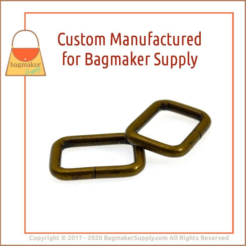 Purse Handbag Bag Making Hardware Antique Brass Finish 34 RNG-AA365 36 Pack .75 Inch 34 Inch Rectangle Ring Rectangular 3.5 mm