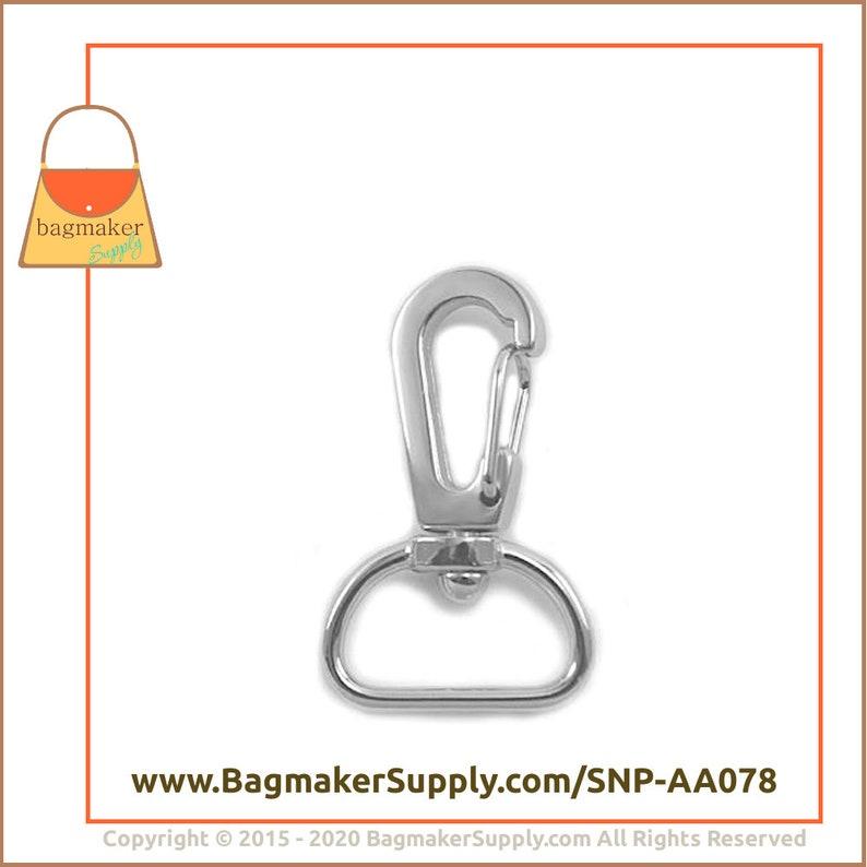 34 Inch Swivel Snap Hook .75 Inch 19 mm Purse Clip Purse Handbag Bag Making Hardware Supplies SNP-AA078 6 Pieces Nickel Finish