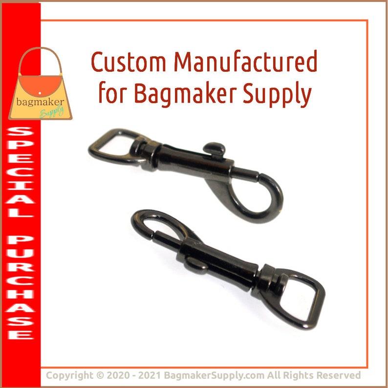 12 Inch Swivel Snap Hook Dark Gunmetal Gray Finish SNP-AA234 .5 13 mm Bolt Style Purse Clip 6 Pack Bag Making Purse Handbag Hardware