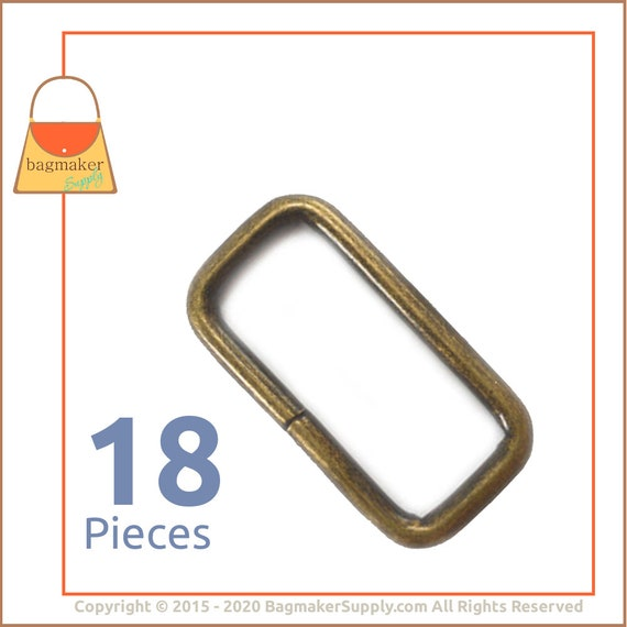 inner 32mm 1.25 rectangle rings,antique brass rectangle adjuster connector ring,strap rectangle buckle for bag findings