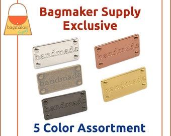Handmade Purse Embellishment Plate, 5 Color Assortment, Handbag Craft Making Hardware Supplies, Bag Bling, EMB-AA006