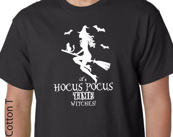 It's Hocus Pocus Time Witches Unisex Tshirt