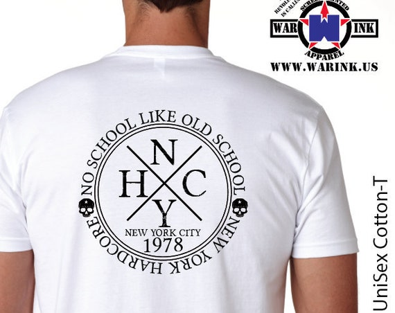 No School Like Old School Hardcore NYHC Unisex White Tshirt