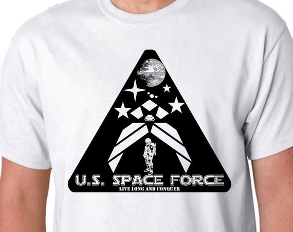 Space Force Triangle NASA Mission Patch Style Logo Handmade Screen Printed Shirt makes the perfect Gift TShirt for Space Force or NASA Fans