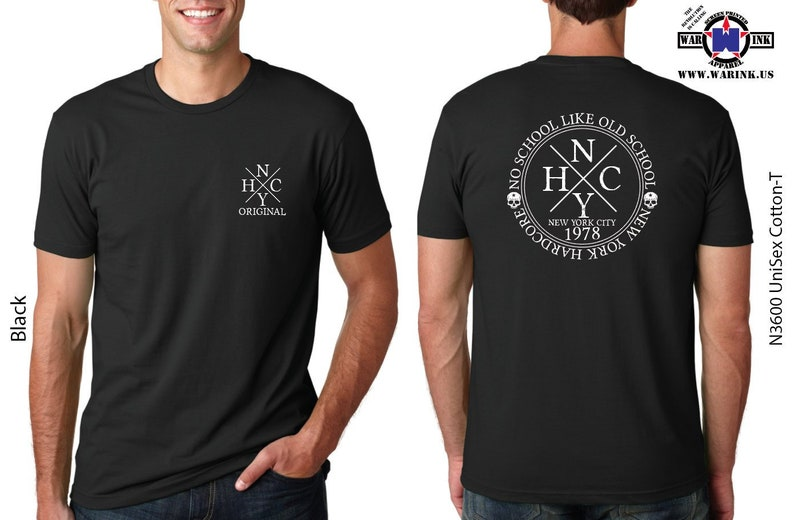 93c350744016f Handmade No School Like Old School Hardcore NYHC Tshirt - makes a Great  Gift for Him or Her Available in 19 Unisex Colors