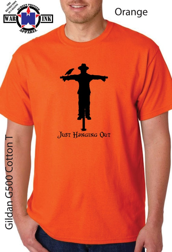 Just Hanging Out Halloween UniSex Scarecrow Tshirt