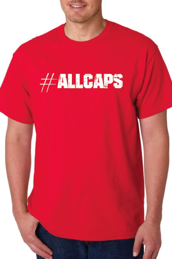 RED #AllCaps Handmade Tshirt Silk Screened Graphic Tee show your Washington Capitals Pride and Rock The Red
