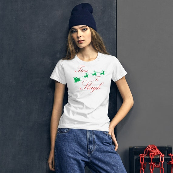 Time to Sleigh Christmas Women's short sleeve Christmas t-shirt