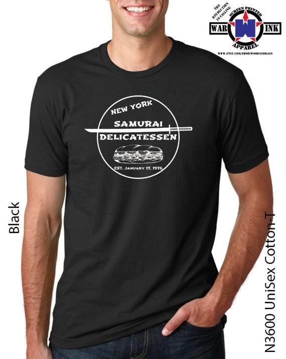 Samurai Delicatessen UniSex TShirt - for the Old School Saturday Night Live and John Belushi fan