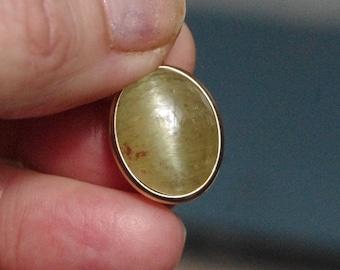 Natural Gemmy Apatite on Brass