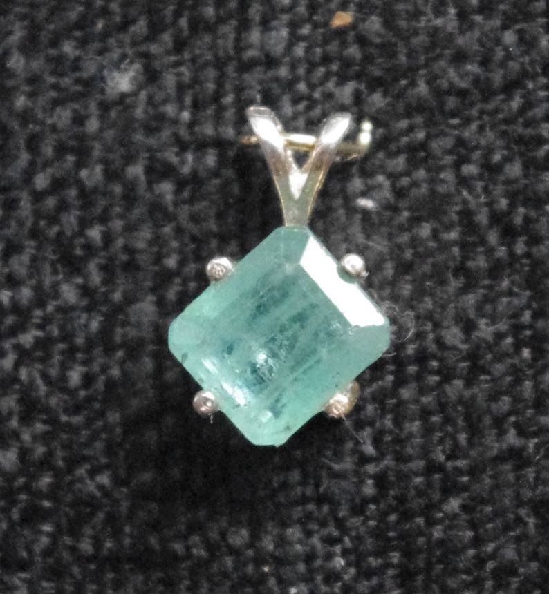 Natural Emerald in Sterling Silver Setting