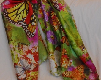 Green Butterfly Scarf