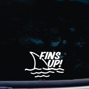 Fins Up Jimmy Buffet Vinyl Decal Sticker Laptop Window Oracal Margaritaville For Sale Online Ebay