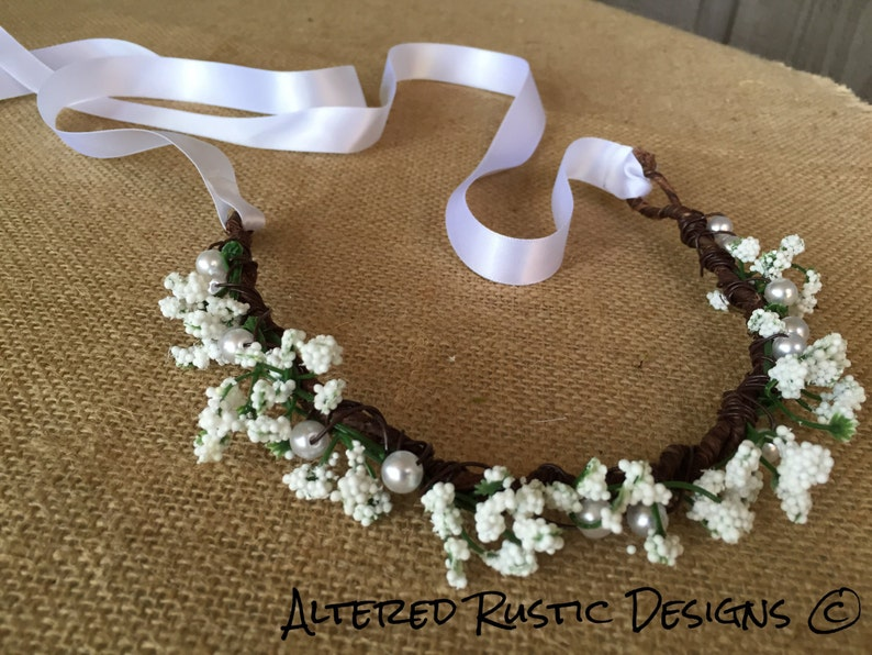 Bridal crown bridal headpiece floral brides crown crown for wedding wedding crown flower girl crown headpiece flower crownbride hair