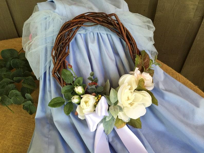 Flower girl wreath flower girl basket alternative flower girl basket wreath as flower girl baskets altered flower girl basket wedding