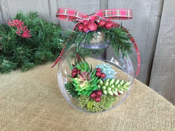 Christmas Succulent Decor.Faux Succulent Ornament Succulent Ornament Christmas Succulents In Ornament Christmas Ornament Rustic Christmas Ornament Unique Ornament