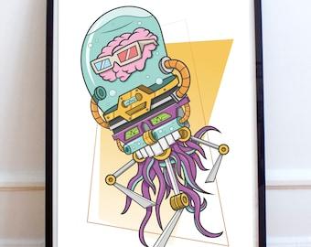 Brain-Borg Print