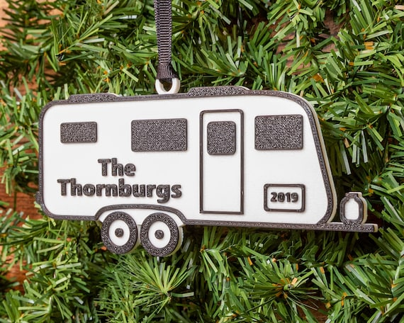 Travel Trailer Personalized Camper Ornament  Camping Gift