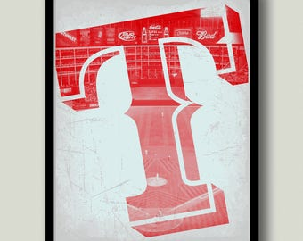 Texas Rangers Printable Art Instant Download