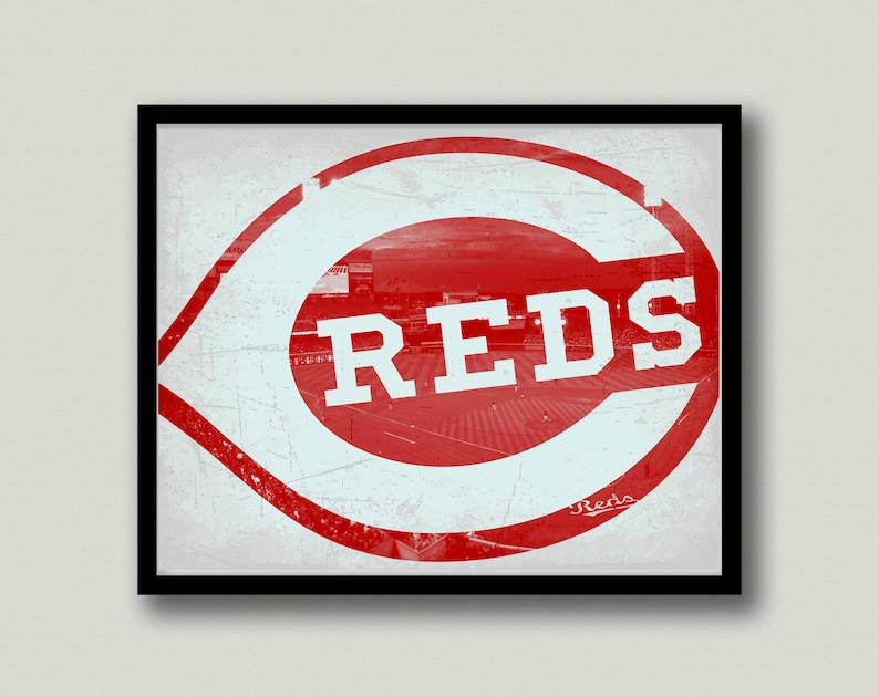 photo relating to Cincinnati Reds Printable Schedule identify Cincinnati Reds Printable Wall Artwork, Quick Obtain