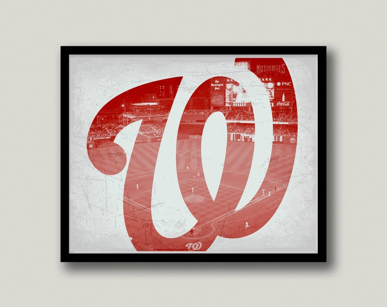 picture about Washington Nationals Printable Schedule known as Washington Nationals Printable Artwork, Instantaneous Obtain