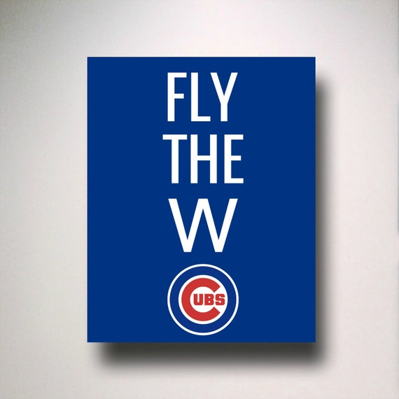 image regarding Printable Cubs Schedule identified as Cubs Printable, Fly the W Cubs, Chicago Cubs Printable, MLB Printable, Cubs Poster, Cubs Wall Artwork, MLB Wall Artwork, MLB Poster, Wrigley Industry