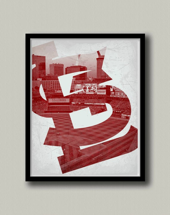 image relating to St Louis Cardinals Printable Schedule referred to as St. Louis Cardinals Printable Wall Artwork, Prompt Down load