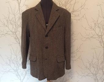 Men's jacket in pure wool, size L