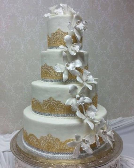 2x EDIBLE SUGER LACES Wedding Anniversary Babyshower Birthday CAKE CUPCAKE TEA @