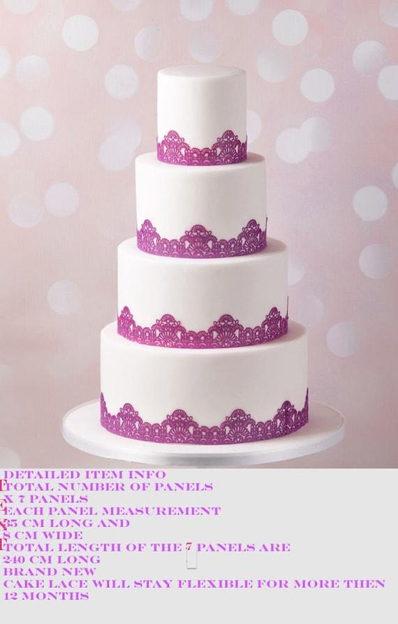 1 x EDIBLE SUGER LACE Wedding Anniversary Baby shower Birthday CAKE CUPCAKE TEAb