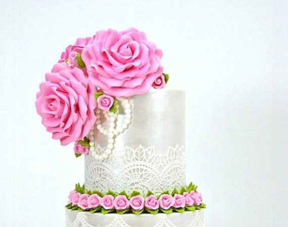 4 X EDIBLE SUGER LACES Wedding Anniversary Baby shower Birthday CAKE CUPCAKE