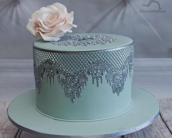 4 EDIBLE SUGER LACES Wedding Anniversary Baby shower Birthday CAKE CUPCAKE TEA