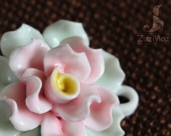 Necklace Pendant, Flower Pendant, Jewelry pendant, Necklace Flower, Ceramic Flower Pendant, Floral Pendant, Jewelry Pendant (PF-0018D)