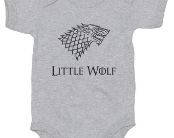 Little Wolf baby grow boy girl vest cute Game of Thrones gift