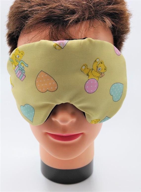 Handmade Teddy /& Kitty Cat Cotton Sleep Eye Mask  Blindfold Hen Travel Blackout Migraine  Relief