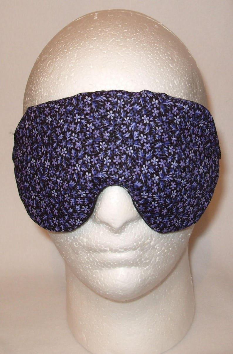 Handmade Purple Floral Sleep Eye Mask  Blindfold Travel Hen Stag Blackout Migraine