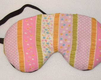 Handmade Pretty Ruched Cotton Eye Sleep Mask Migraine Relief Blackout Blind