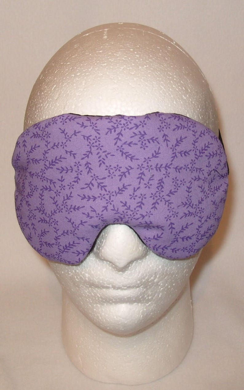 Handmade Purple Cotton  Sleep Eye Mask Blindfold Travel Hen Stag Blackout