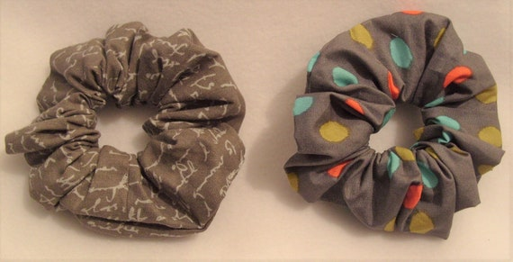 1 x Handmade 100/% Cotton Christmas Hair Band Tie Scrunchy Scrunchie Festive